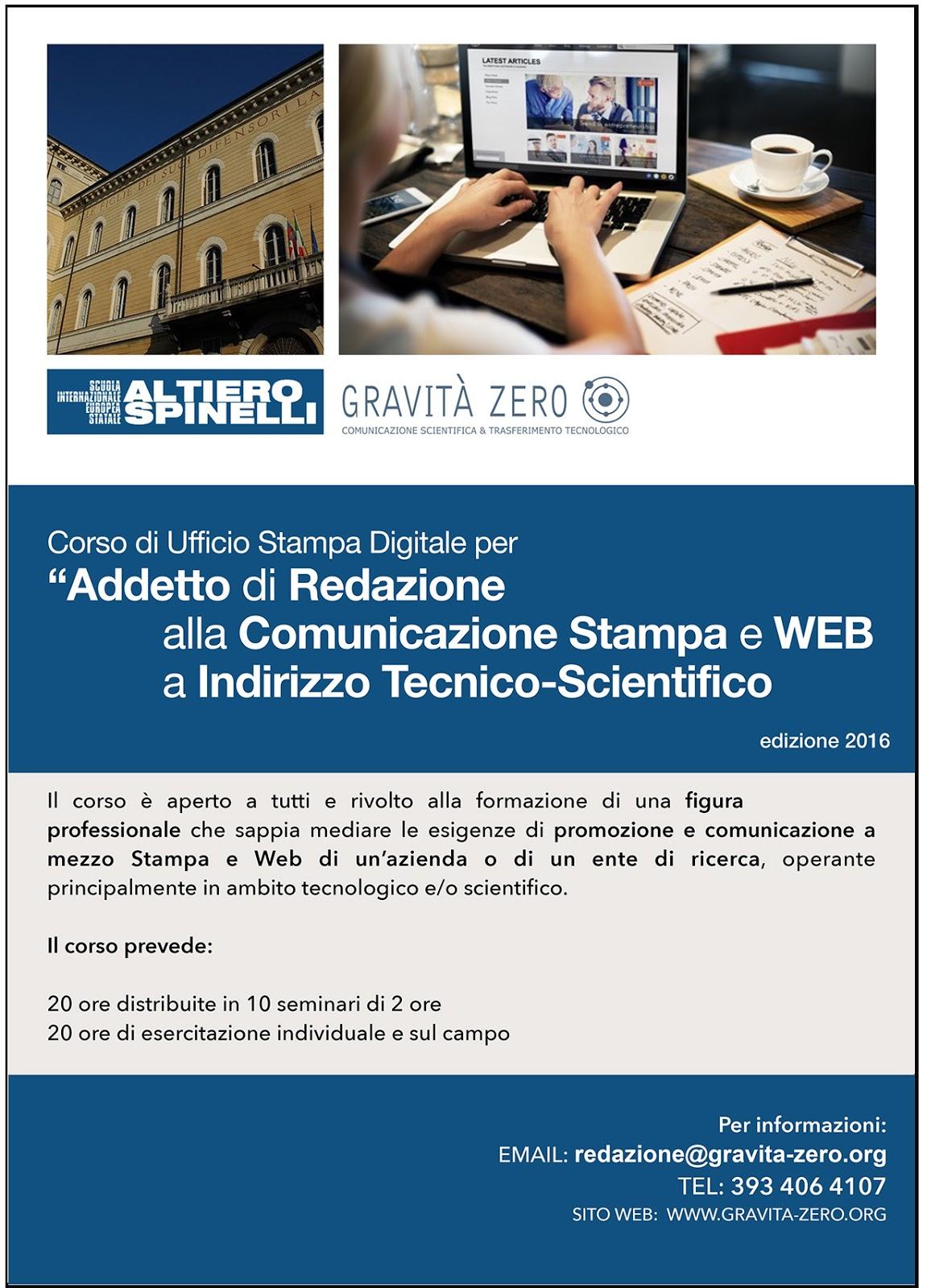 Corso Ufficio Stampa